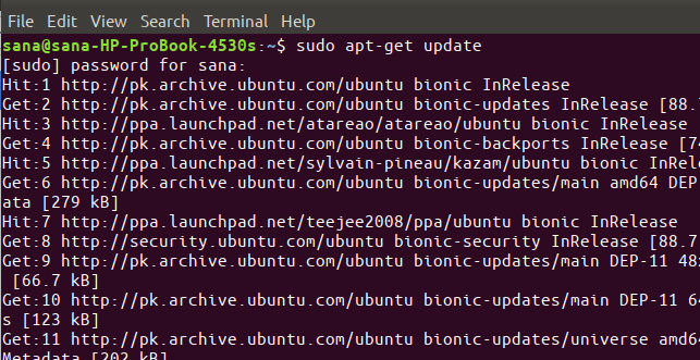 Update Ubuntu Repository