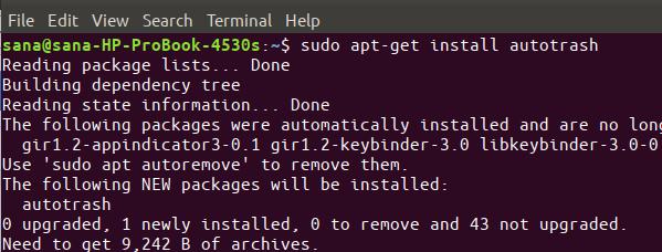 Install Autotrash