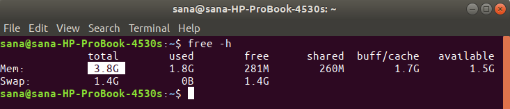Free -h command