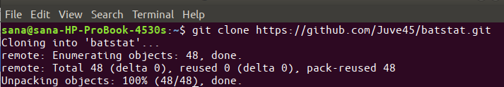 Clone Batstat repository
