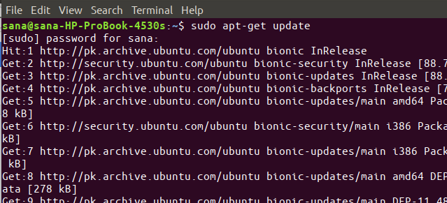 Update Ubuntu repository list