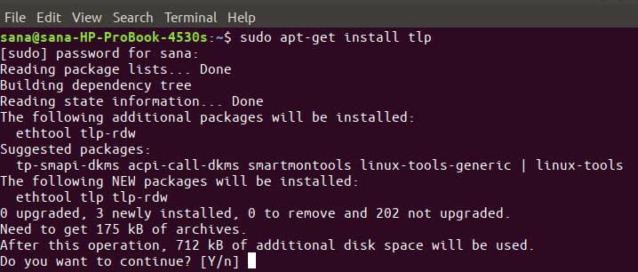 Install tlp