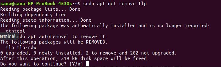 Remove TLP