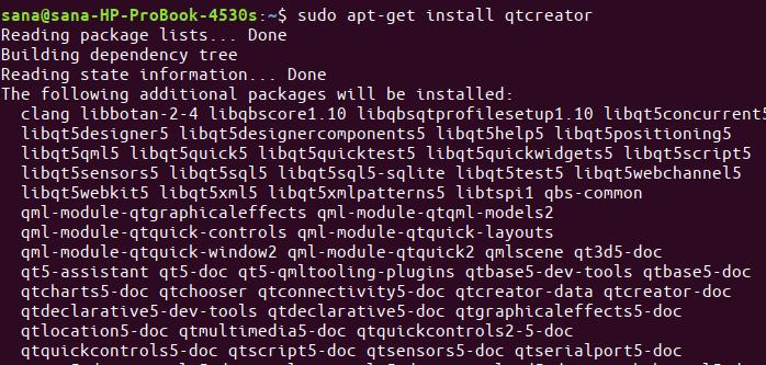 Install QTCreator