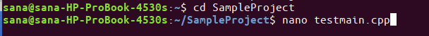 Create main cpp file