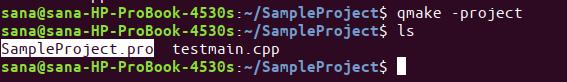 Create a project file