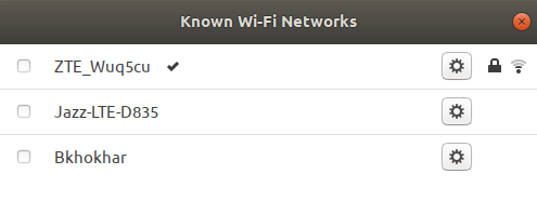 Wi-Fi Networks option