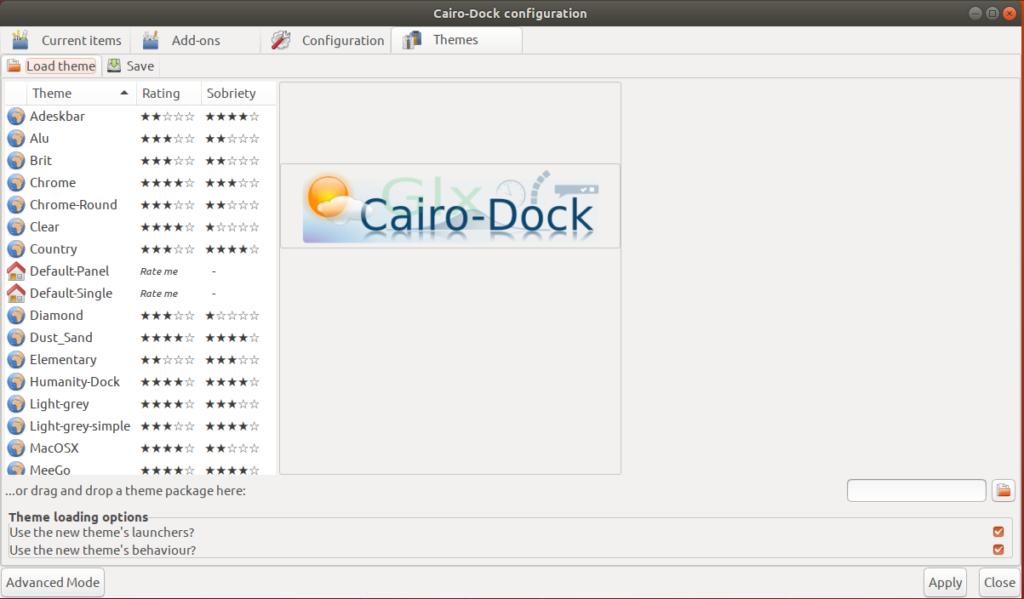Cairo-Dock Configuration