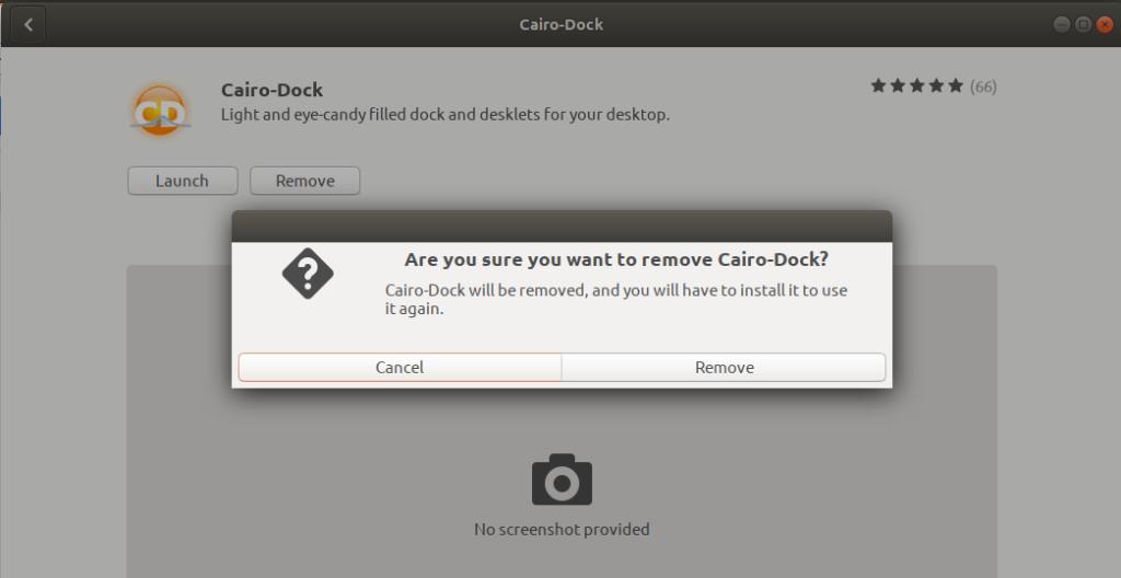 Remove Cairo-Dock