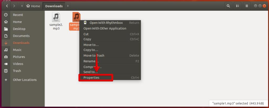 Music file properties