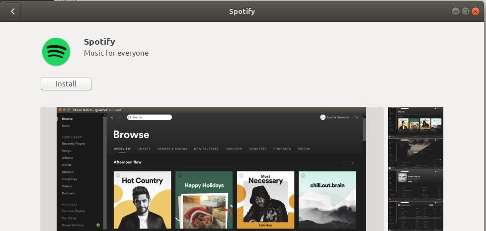 Installing Spotify