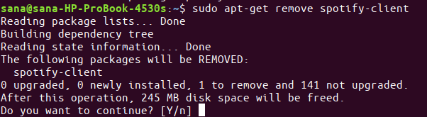 Remove spotify-client package