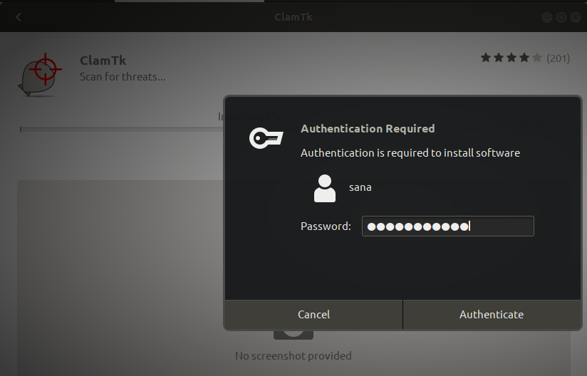 Authenticate as admin user