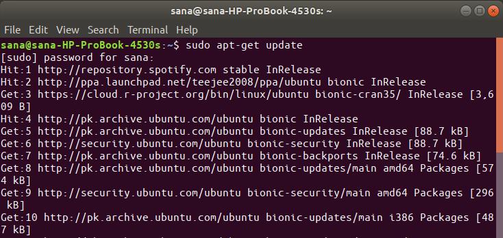 Update Ubuntu Repository