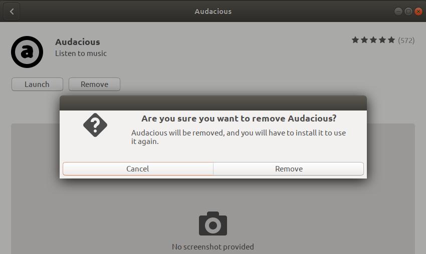 Remove Audacious