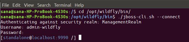 Open the Administrative Console CLI