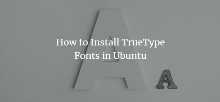 Ubuntu TTF Fonts