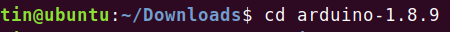 Enter Arduino folder