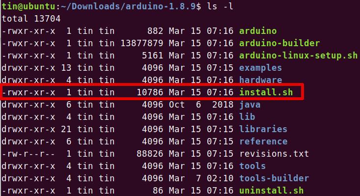 Arduino install script