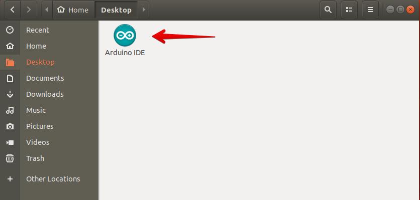 Arduino Icon shown on Desktop