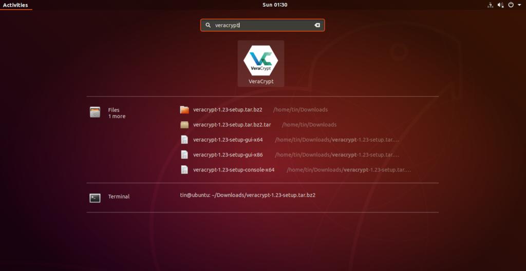 Launch Veracrypt