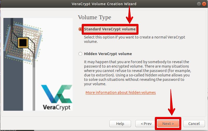 standard VeraCrypt volume