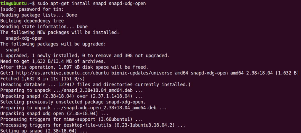 Install snap and snapd