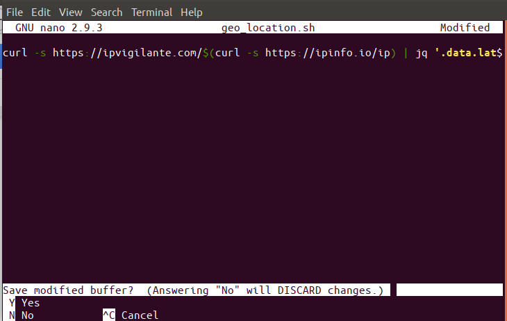 Script to get IP info