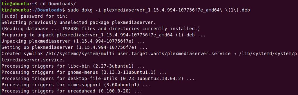Installing Plex Media Server on Ubuntu