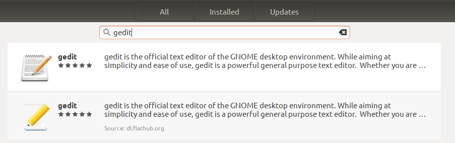 Flatpak packages show up in Ubuntu software list now