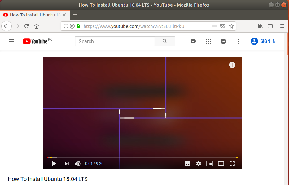 Open Video in web browser