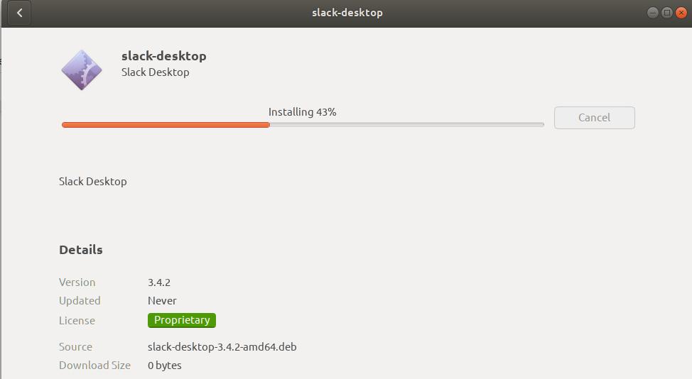 Installing slack-desktop