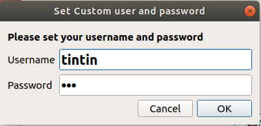 Set username and password