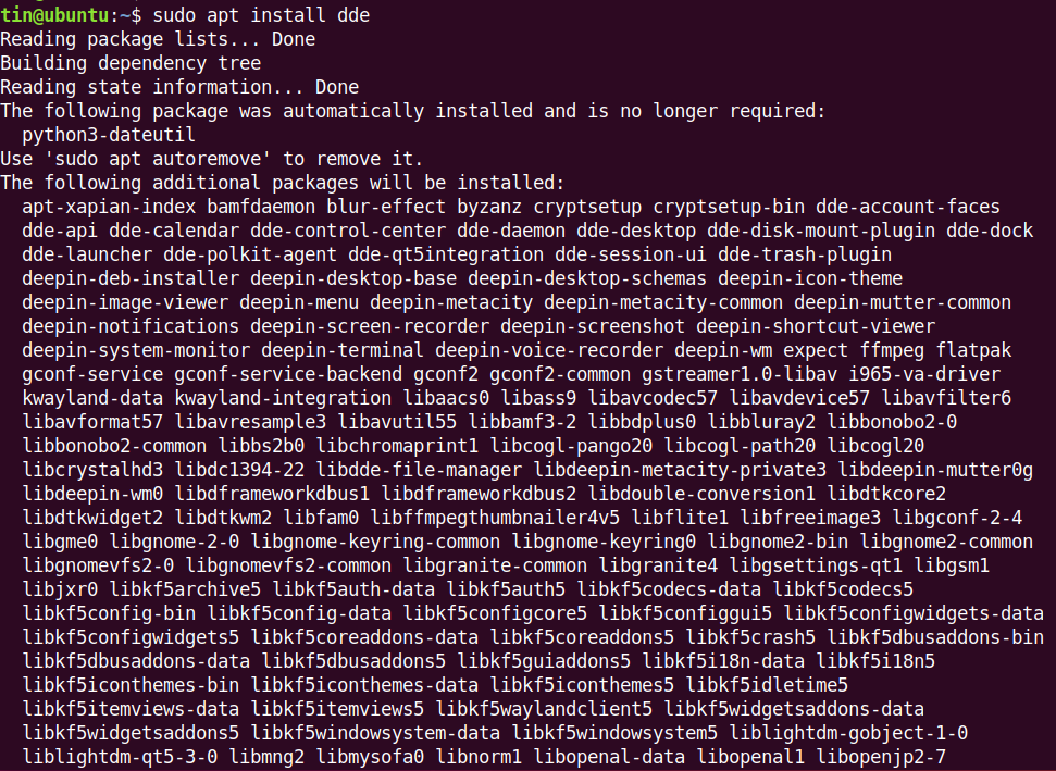 Install Deepin Desktop DDE
