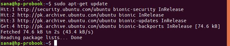 Update Ubuntu Packages
