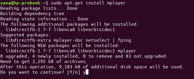 Install Mplayer