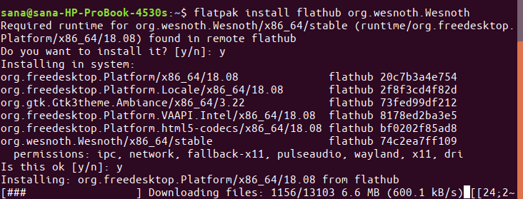 Add Wesnoth repository in Flatpak