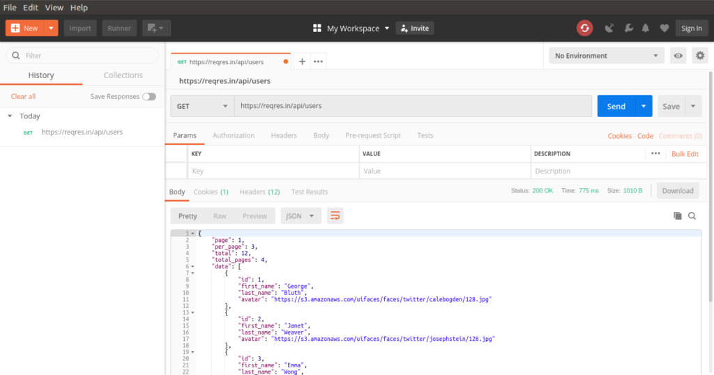 Send a GET Request with Postman