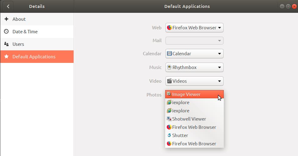 Choose EOG as default image viewer in Ubuntu