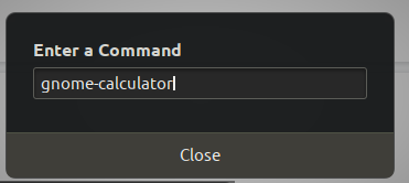Run Command Window