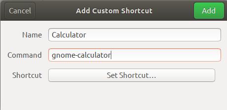 Add Custom Shortcut