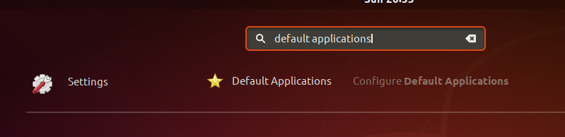Ubuntu Default Applications