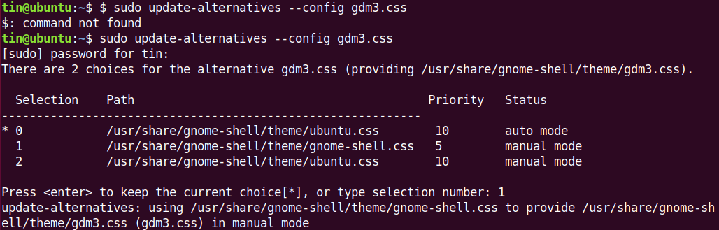 Activate GNOME Shell CSS