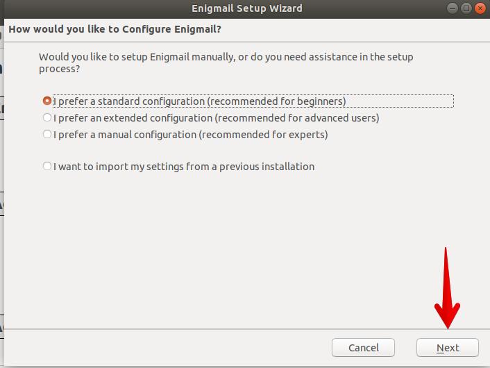 Use standard configuration