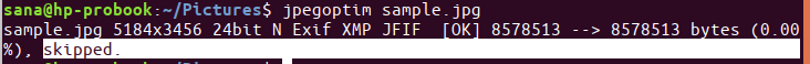 File is already optmized