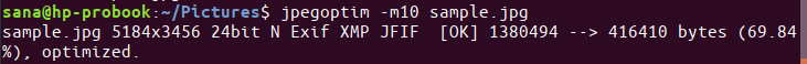 Lossy compression of JPG files