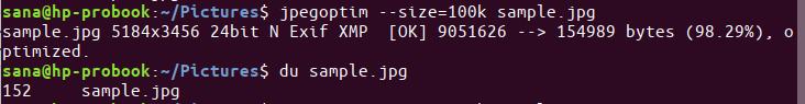 Define size of optimized image