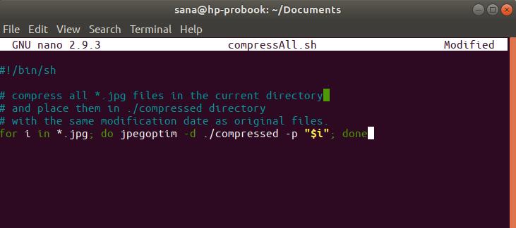 Jpeg batch optimization script