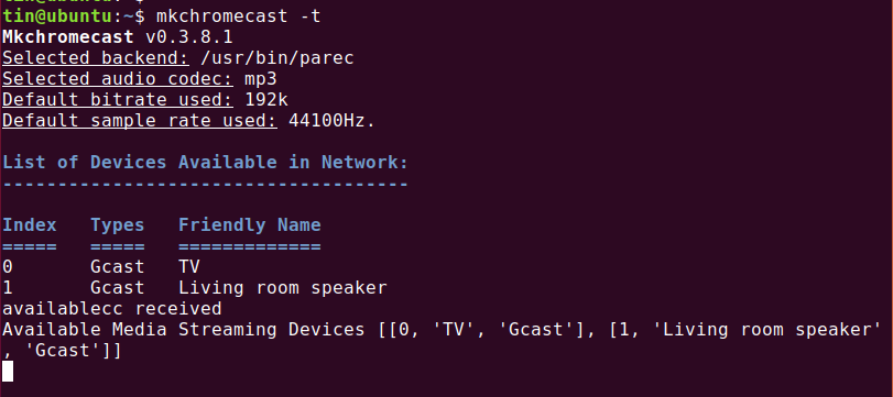 List network devices
