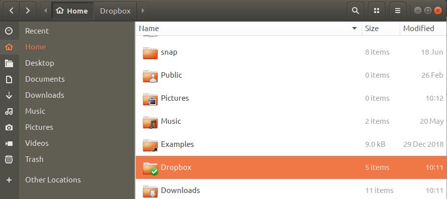 Select Dropbox Folder